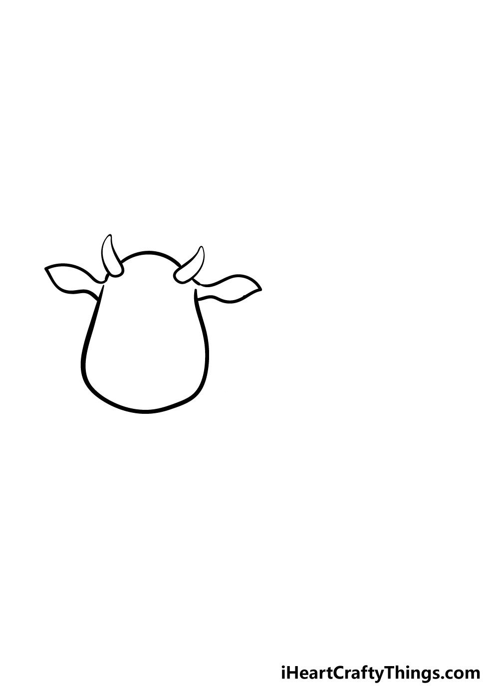 cow drawing step 3