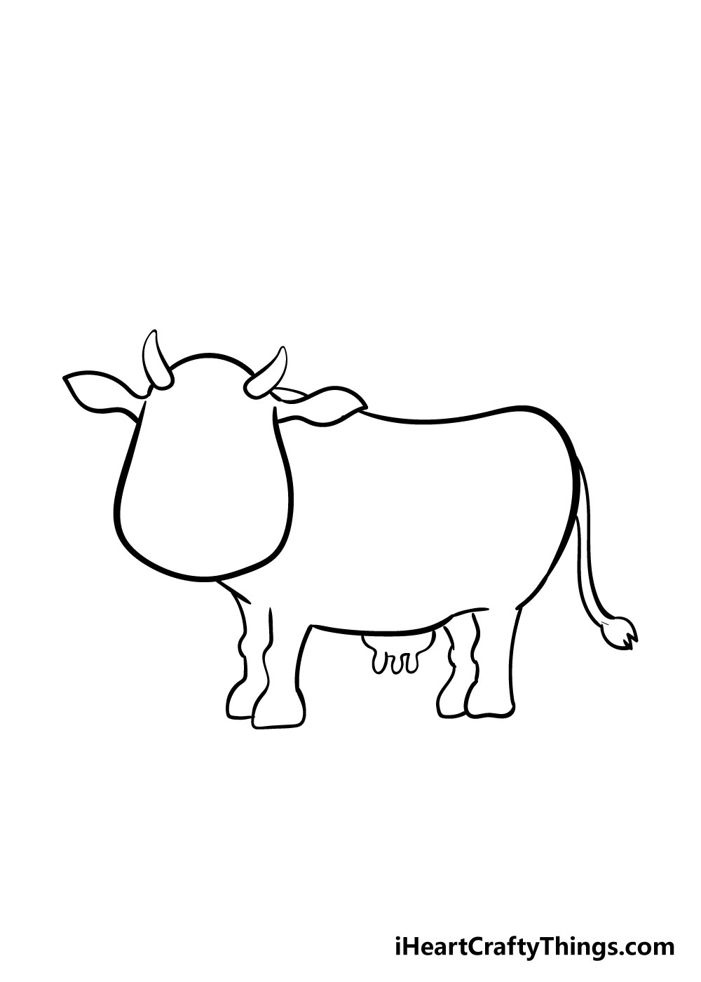 cow drawing step 6