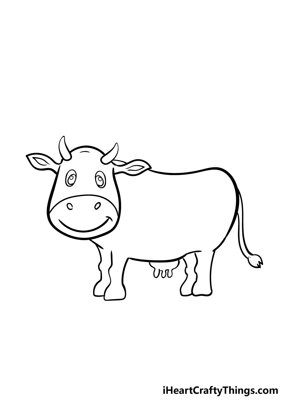 cow drawing step 7