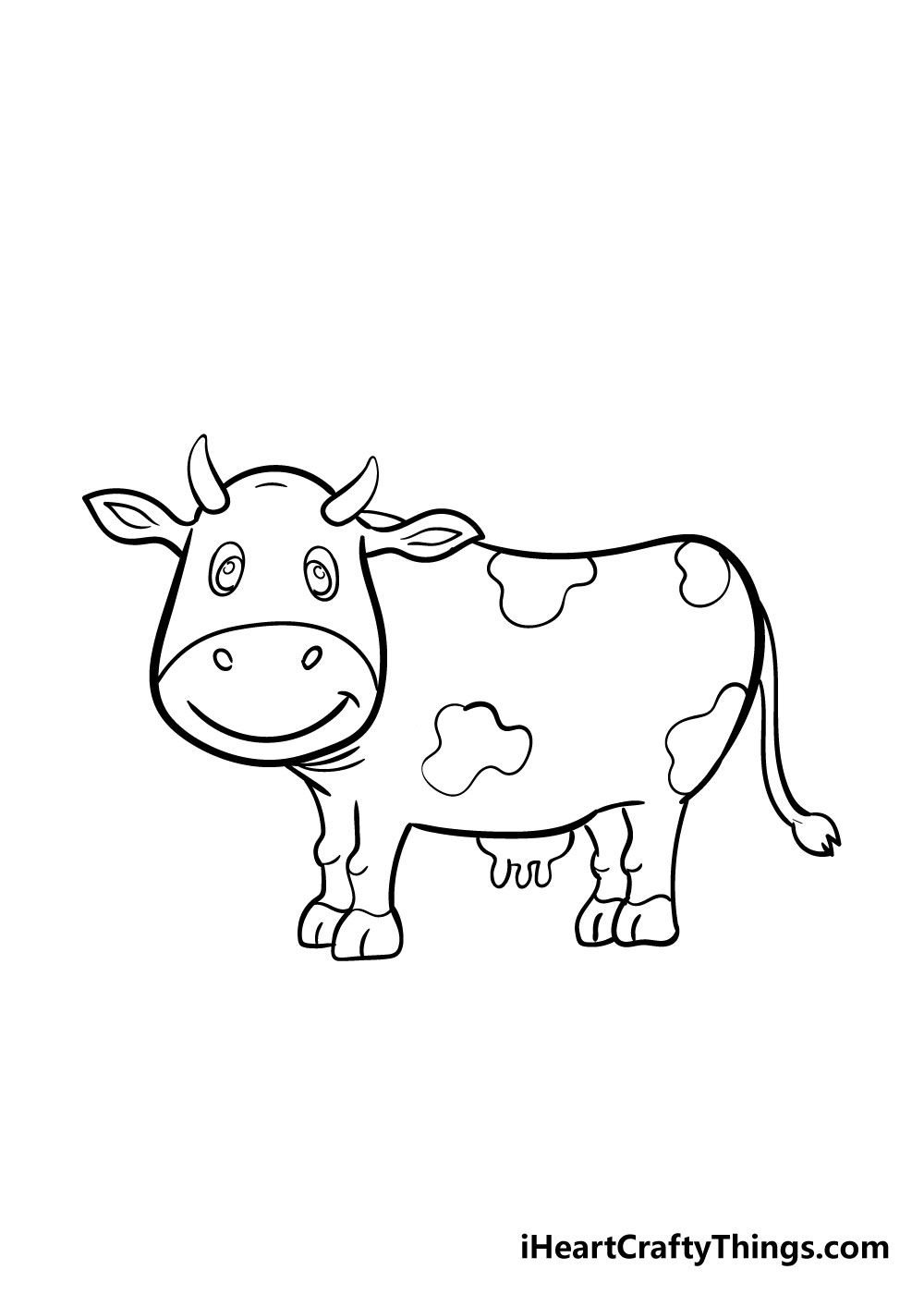 cow drawing step 8