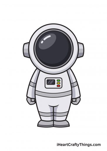 how to draw astronaut image