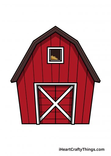 how to draw barn image