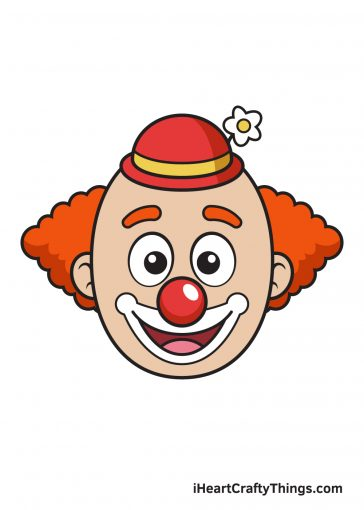 how to draw clown image