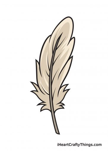 how to draw feather image