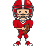how to draw football player image