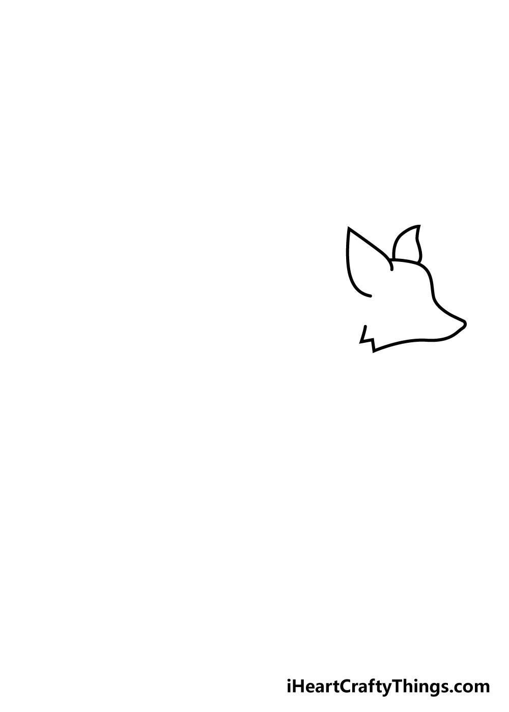 fox drawing step 1
