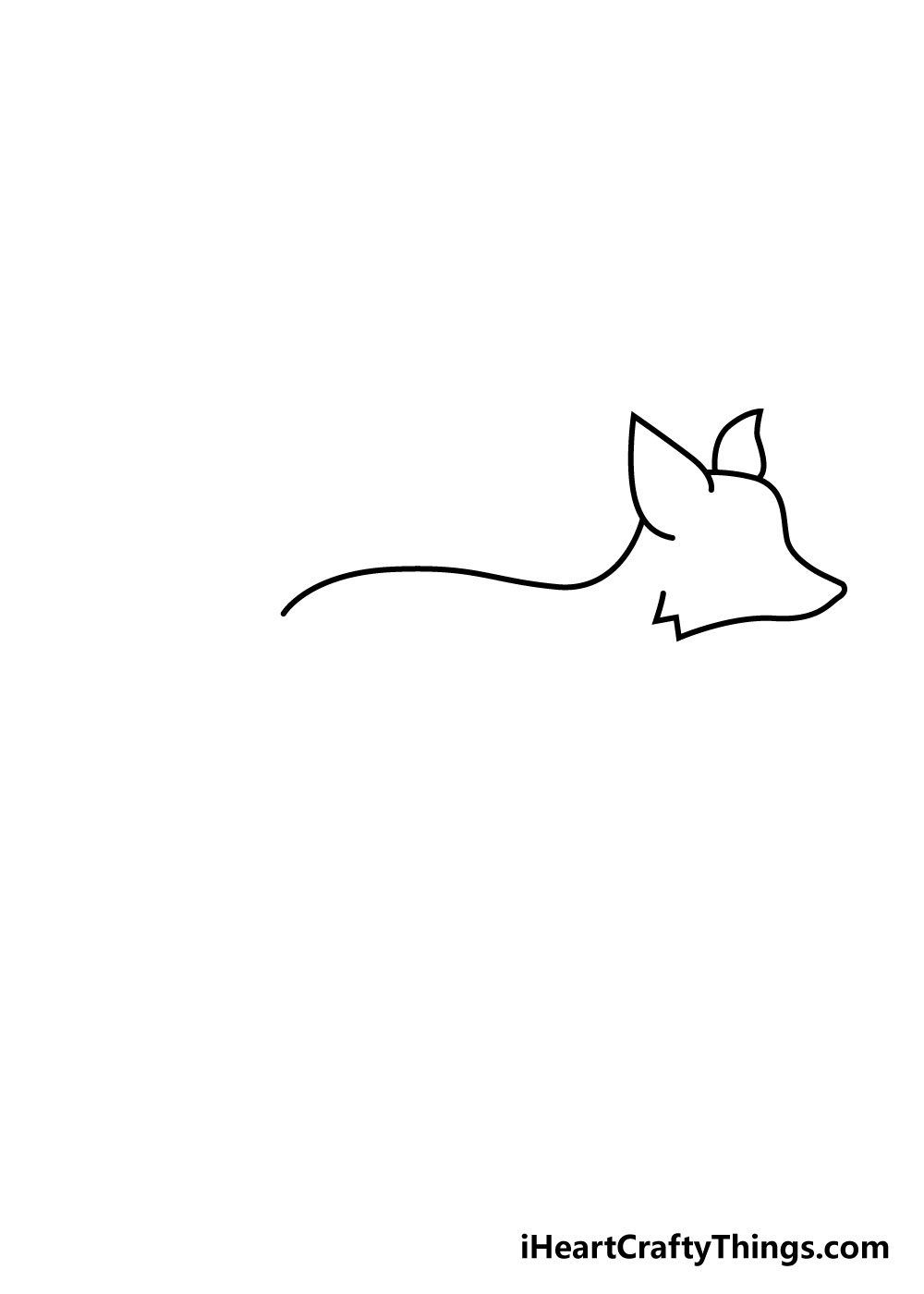 fox drawing step 2