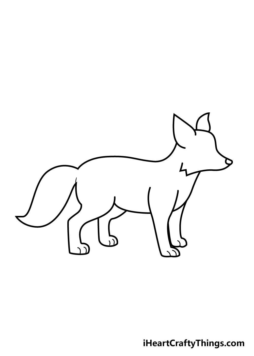fox drawing step 4