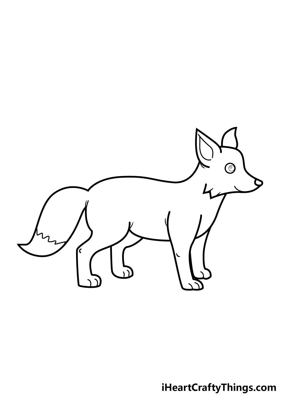 fox drawing step 5