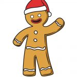 how to draw gingerbread man image