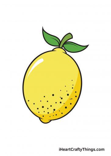 how to draw lemon image