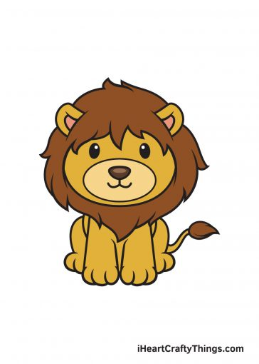 how to draw lion image