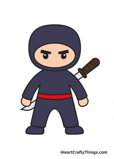 how to draw ninja image
