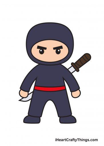 how to draw ninja image