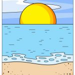 how to draw ocean image