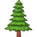 how to draw pine tree image