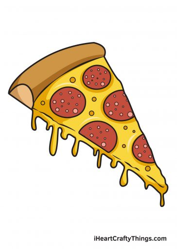 how to draw pizza image