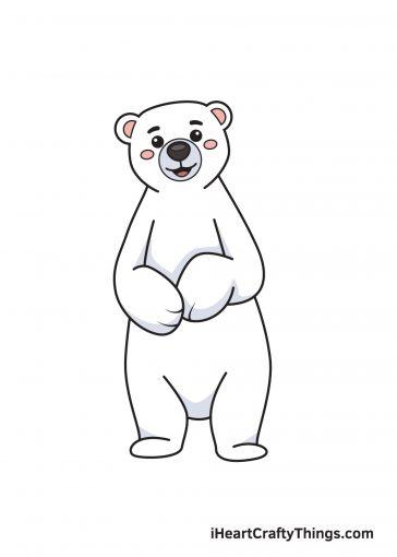 how to draw polar bear image