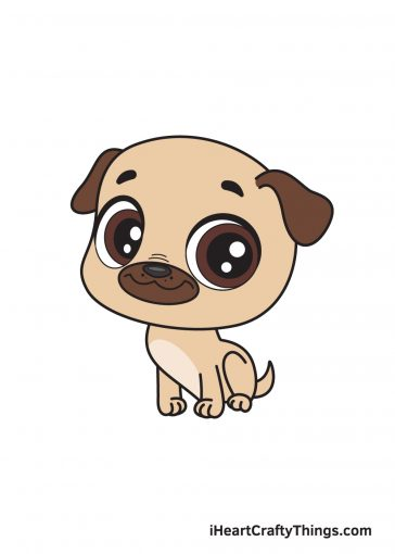 how to draw pug image