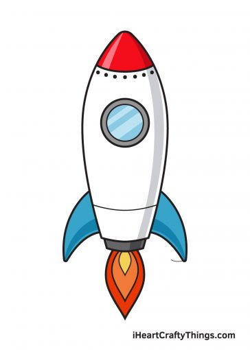 how to draw rocket image
