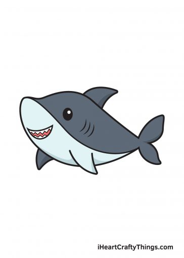 how to draw shark image