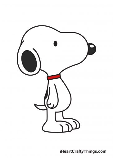how to draw snoopy image