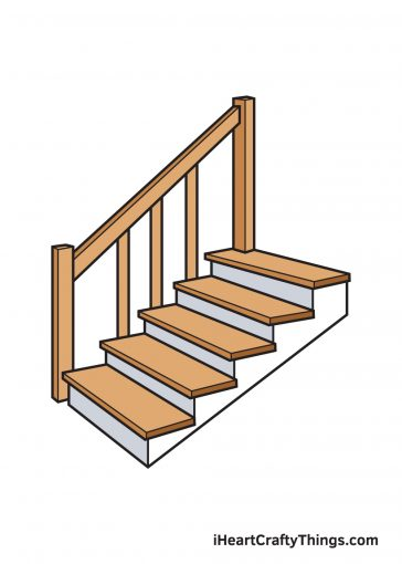 how to draw stairs image