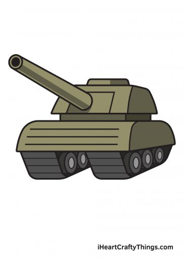how to draw tank image