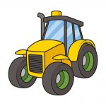 how to draw tractor image