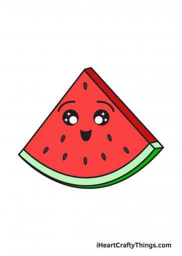 how to draw watermelon image