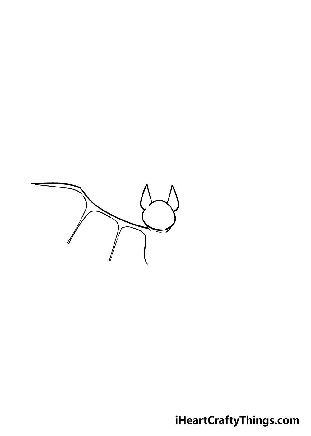 bat drawing step 3