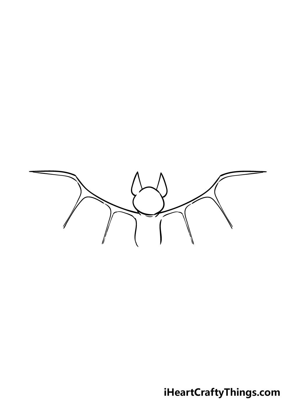 bat drawing step 4