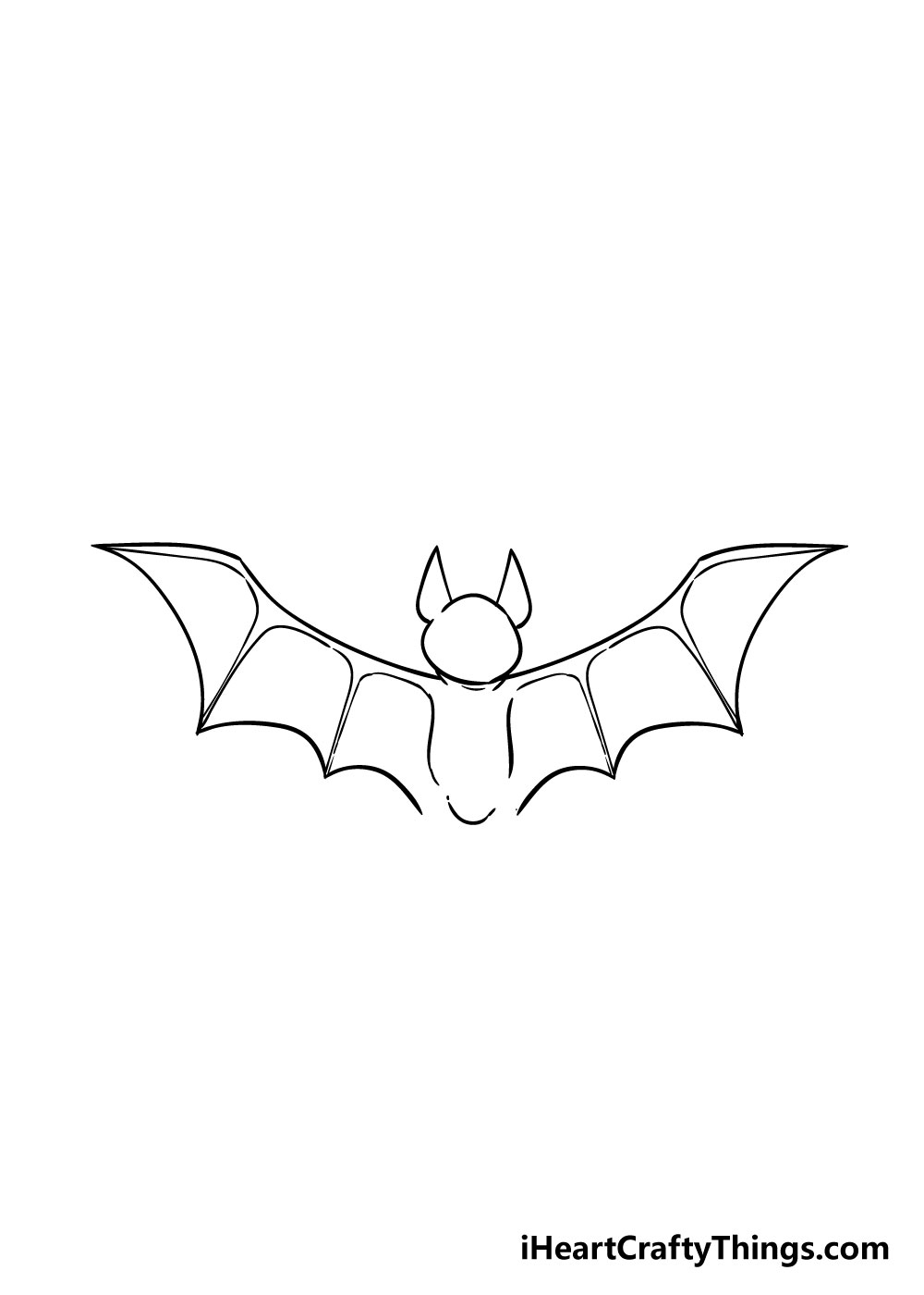 bat drawing step 5