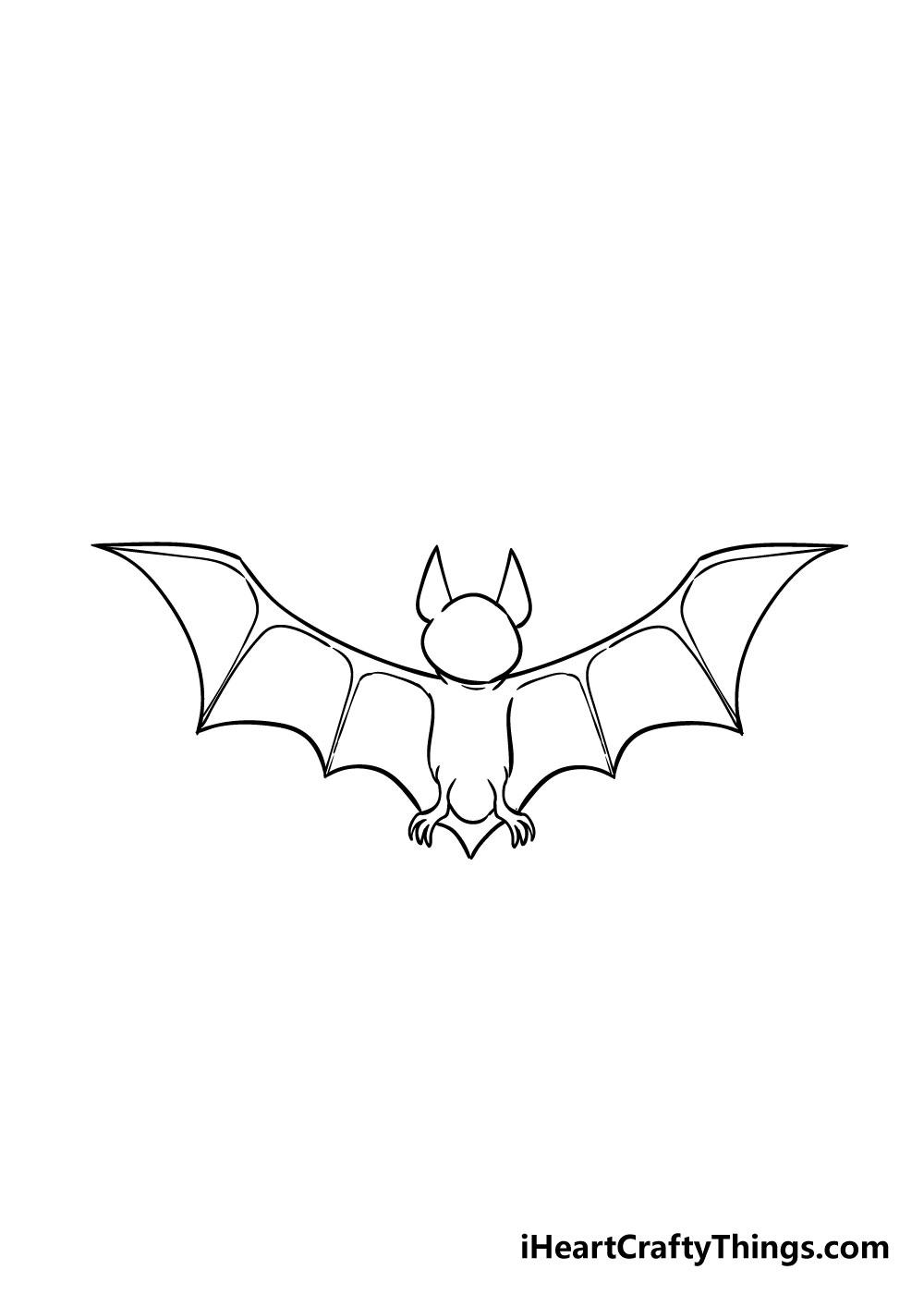 bat drawing step 6