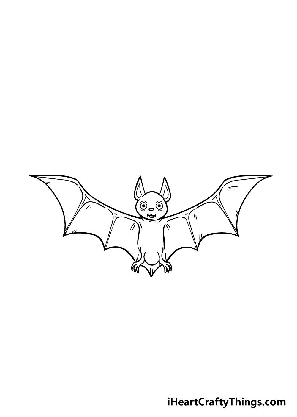 bat drawing step 8