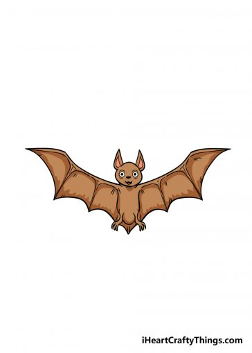 how to draw bat image