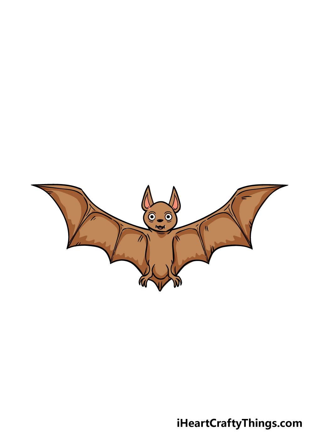 bat drawing step 9