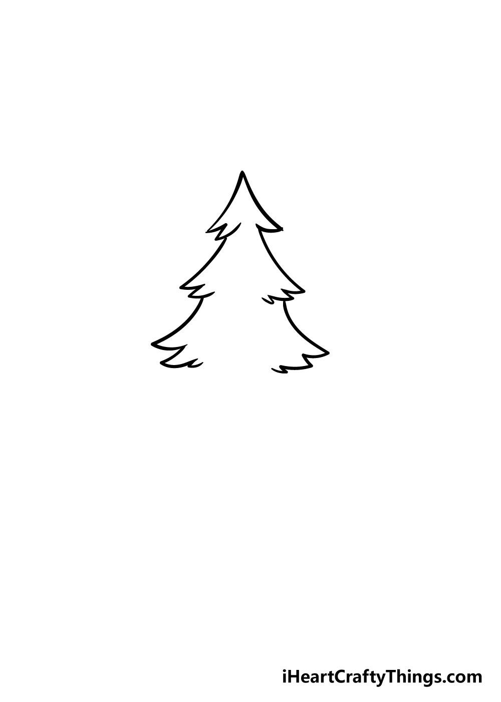 christmas tree drawing step 2