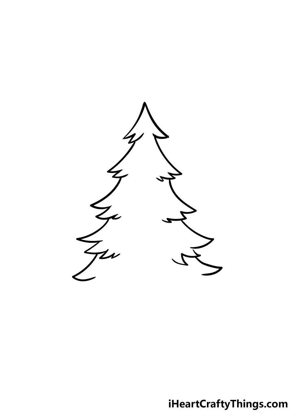 christmas tree drawing step 3