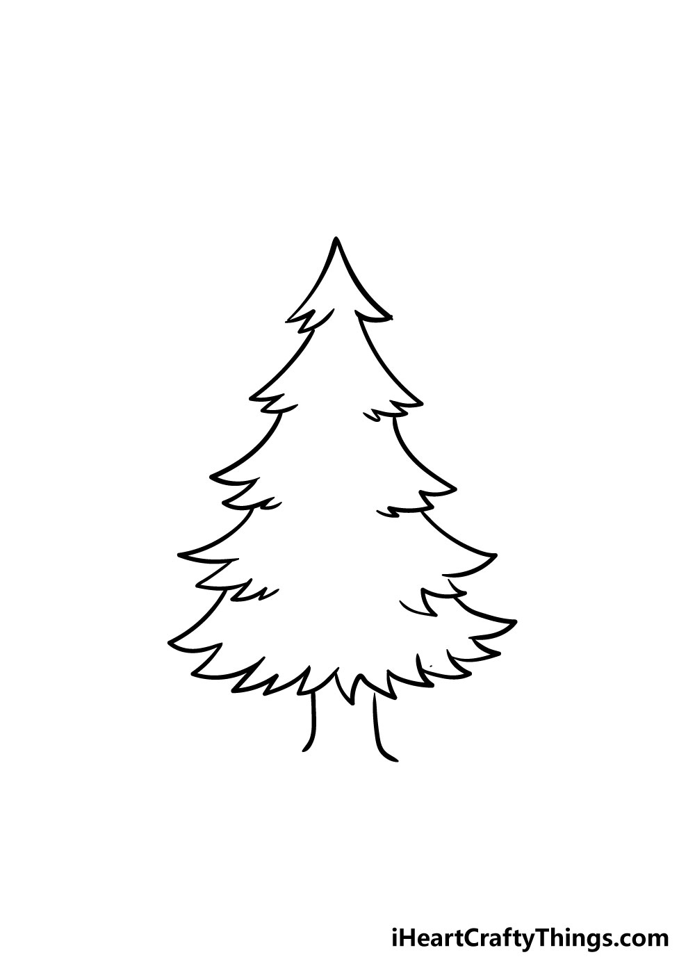 christmas tree drawing step 4