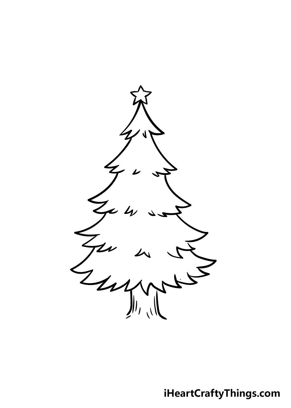 christmas tree drawing step 6