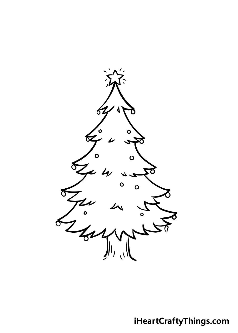 christmas tree drawing step 7