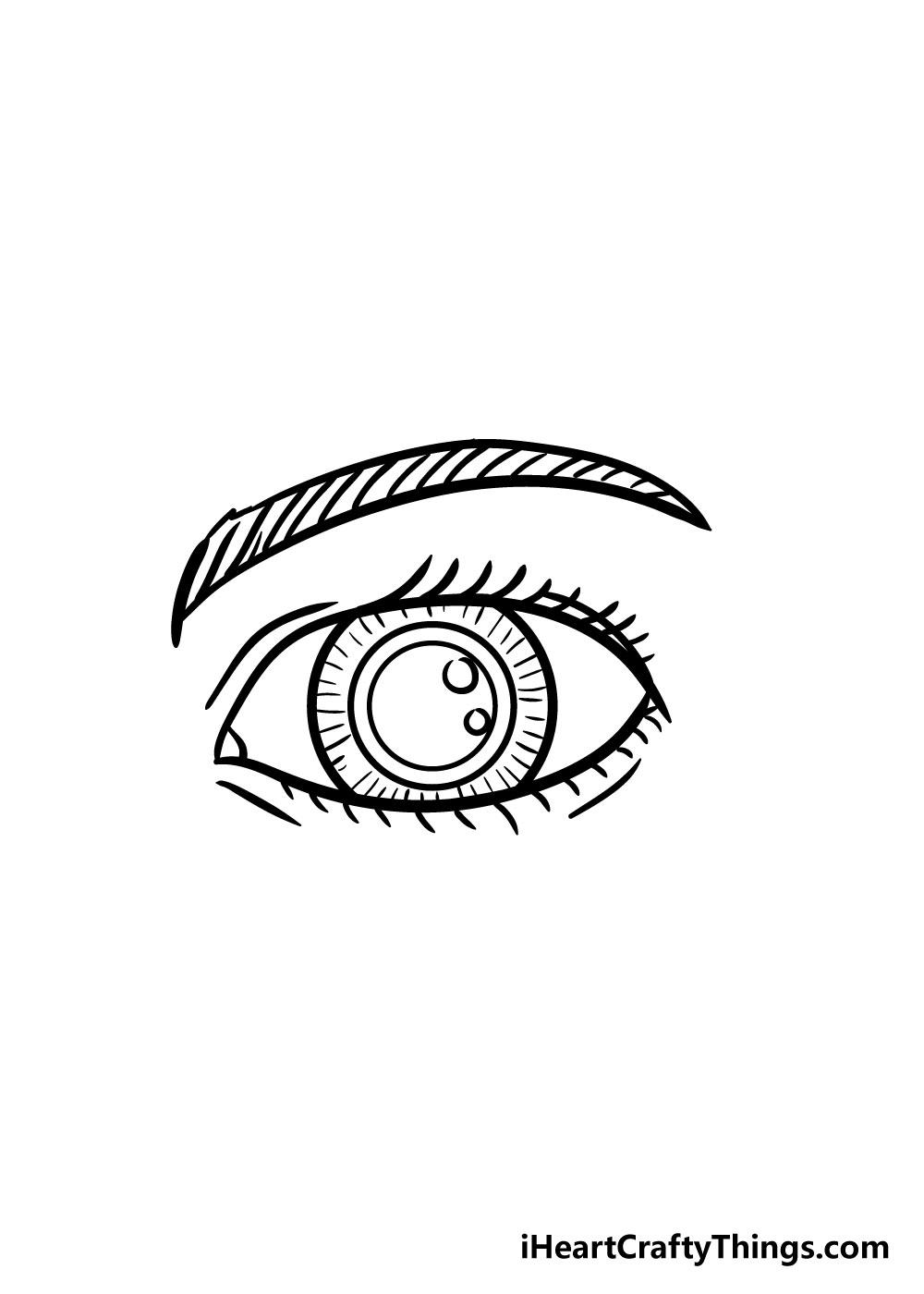 eye drawing step 7