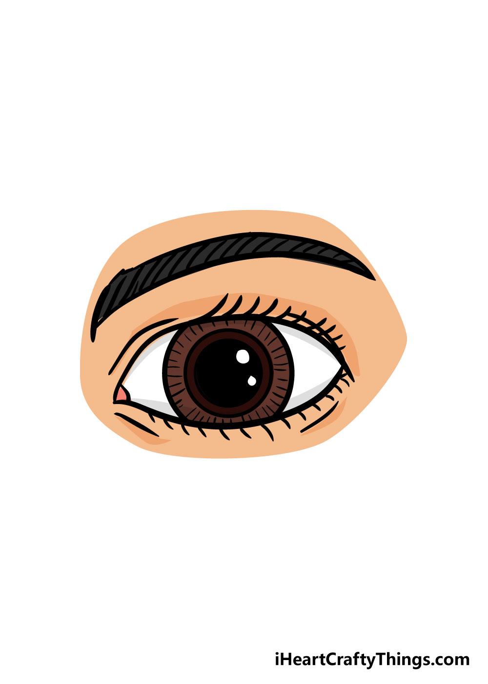 eye drawing step 8