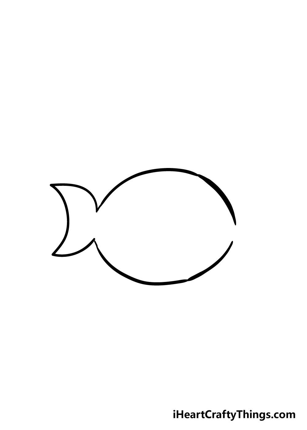 fish drawing step 2