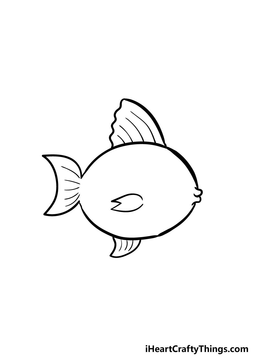 fish drawing step 5