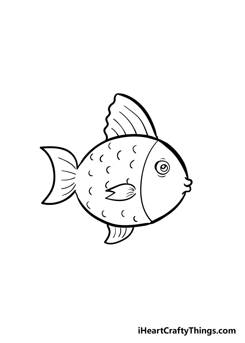 fish drawing step 6