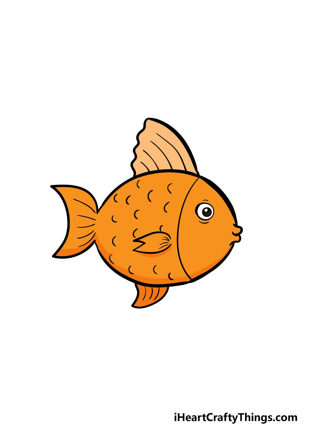 fish drawing step 7