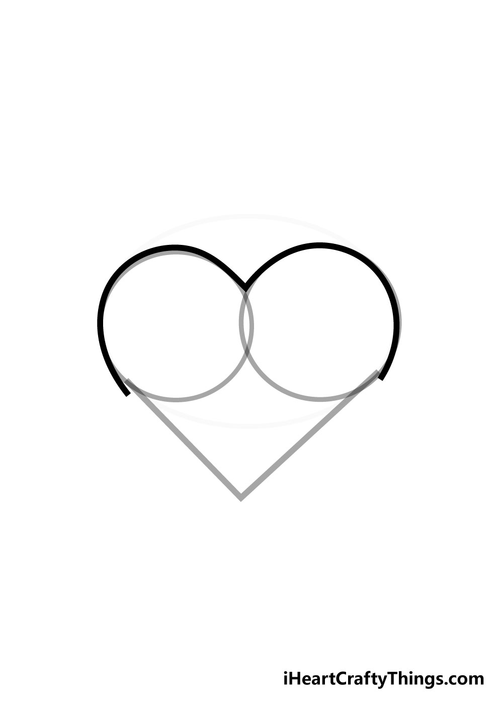 heart drawing step 4