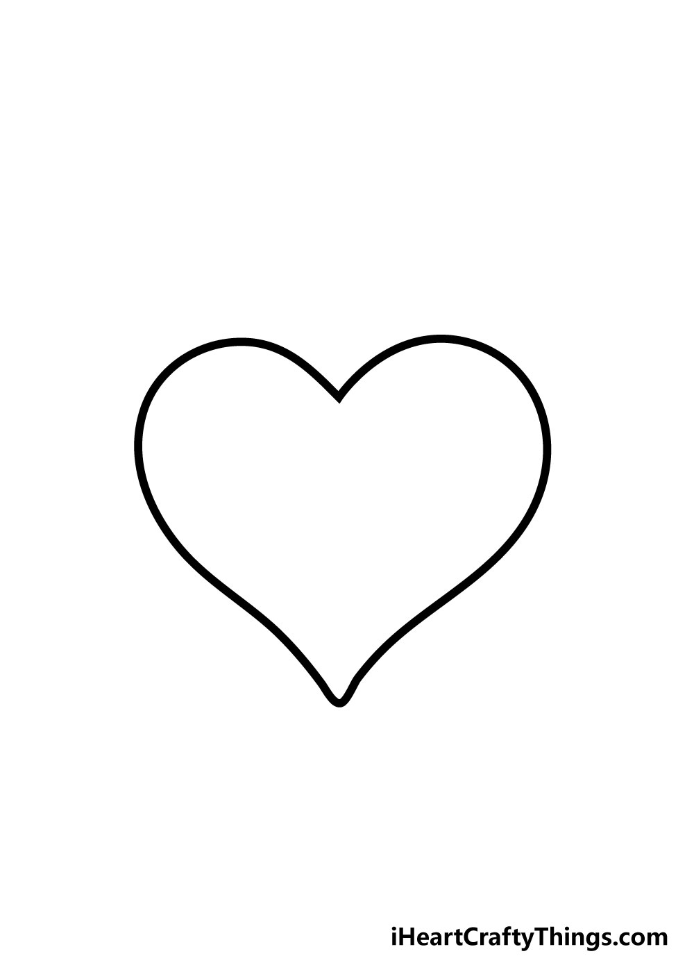 heart drawing step 5